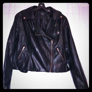 NWT Moto faux leather jacket
